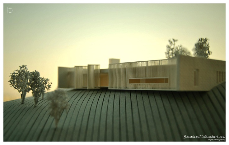 Model for the AL residence. Project by Estudio MRGB   Model by boutique design