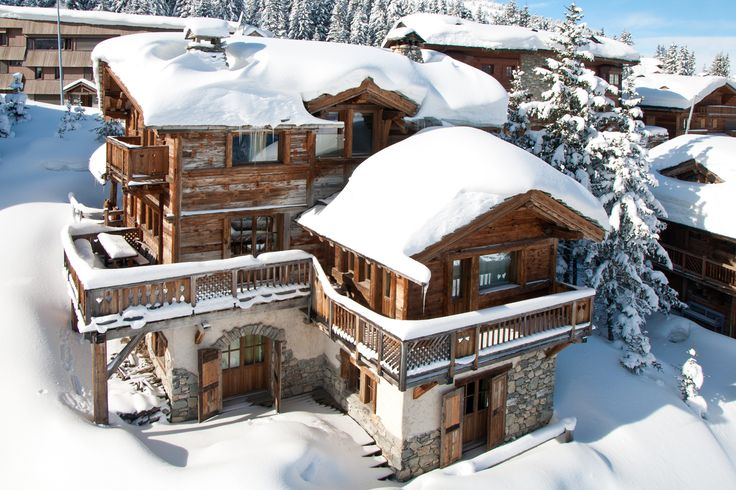 #Fairytale #chalet #Courchevel #France #snow