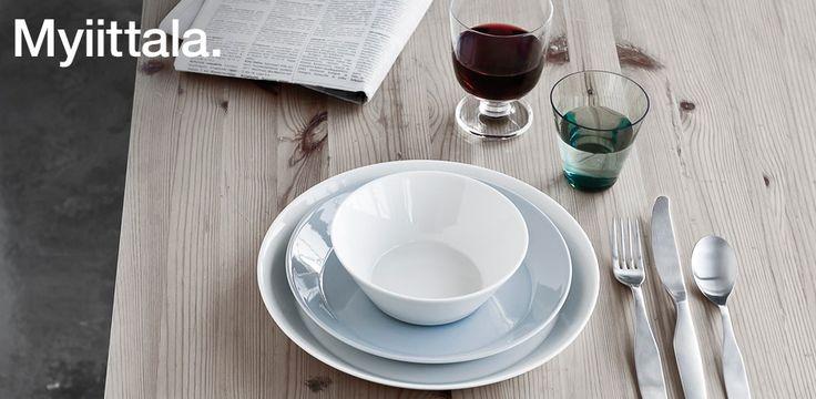 Iittala Teema servies - Eenvoud siert; Wit servies als basis gecombineerd met een zachte kleur #mijnservies