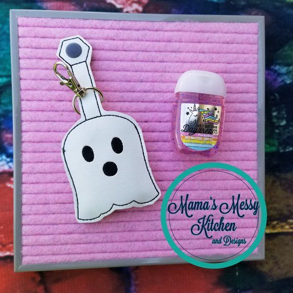 Ghost Halloween Hand Sanitizer Holder Includes Sanitizer Say Boo