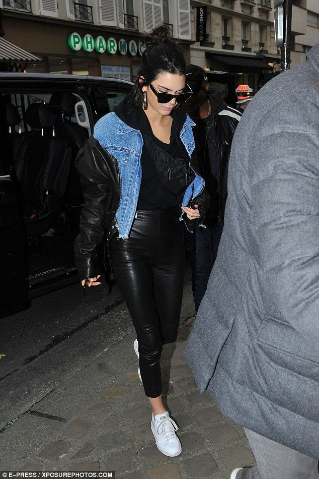 Kendall Jenner channels grunge glamour as she steps out in Paris #dailymail