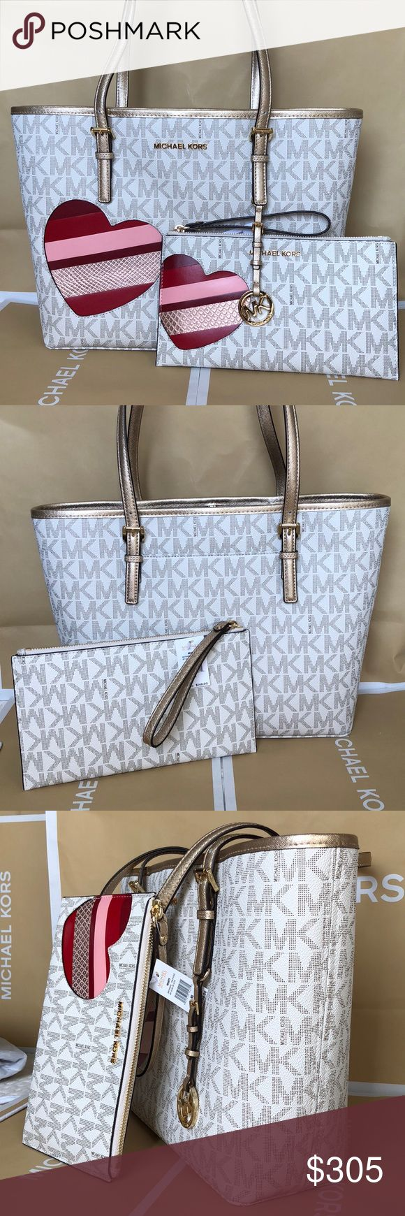 Michael Kors Set 100% Authentic Michael Kors Tote Bag and Large Clutch, brand new with tag! Michael Kors Bags Totes