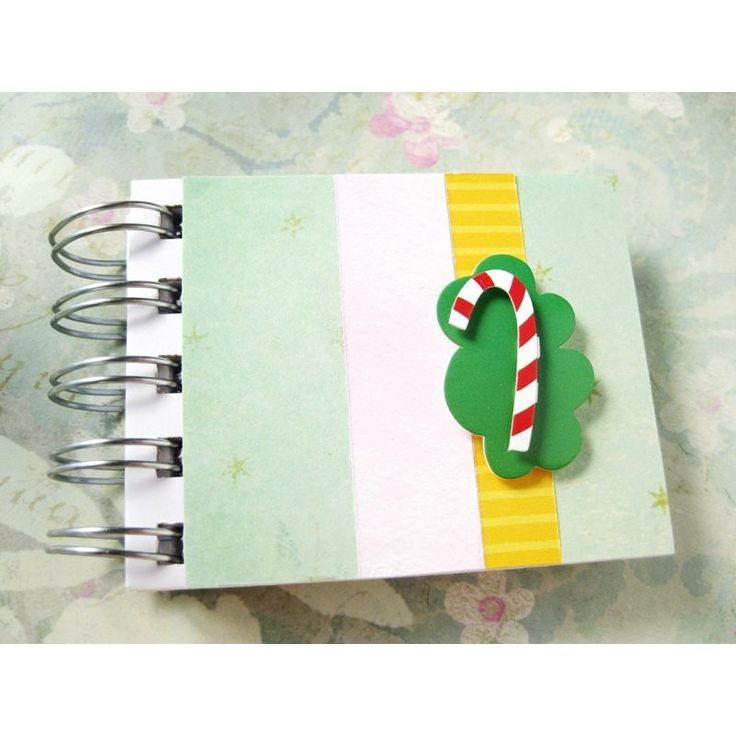 Mini Candy Cane Notebook 3.25x2.5 - lined 80 pages - Jotter - Spiral Bound