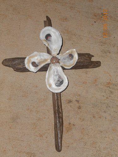 Local driftwood, oyster shells, & seashell ~ Fairhope, Alabama