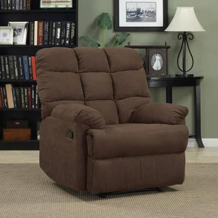 Furniture Rooms Chair ProLounger Wall Hugger Biscuit Back Recliner Brown - Chairs