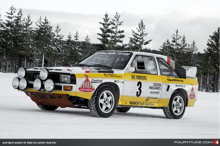 My favorite car of all time. I still have the matchbox version from when I was about 9 years old. Audi Sport quattro S1 rally car.