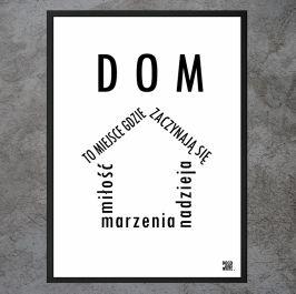 """Plakat """"Dom - Miłość, Marzenia, Nadzieja"""""""