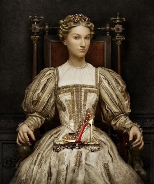Inspiration: Elizabeth of Austria by Francois Clouet - Christian Louboutin Ad