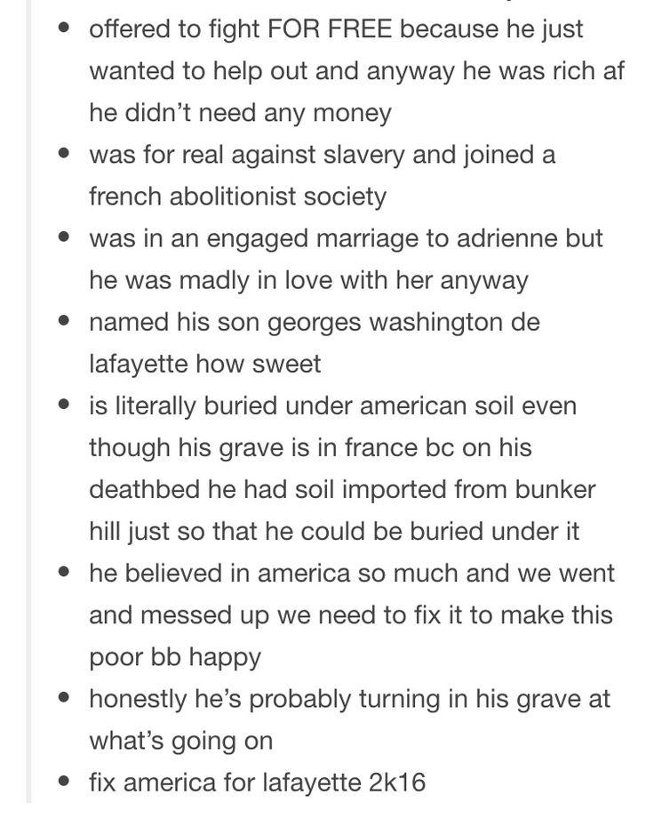 Lafayette appreciation post