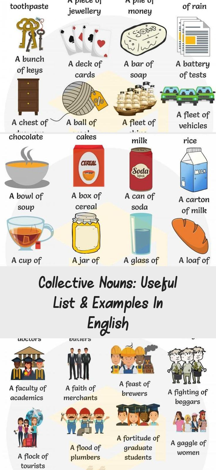 Collective Nouns Useful List & Examples in English 7 E