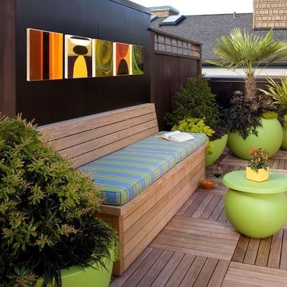 Patio bench seat seat cushion Design Ideas, Pictures, Remodel and Decor