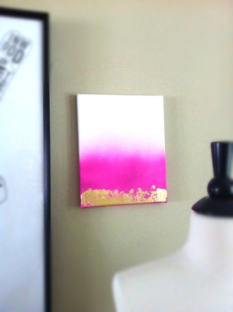 DIY ombre canvas perfect for a teen girls room