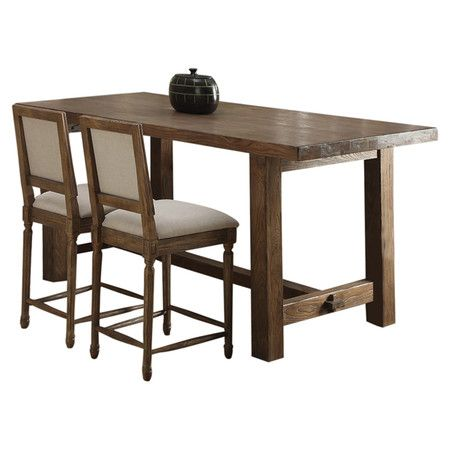 counter height dining table with an 11 step finish and classic trestle base - Kitchen Table Height