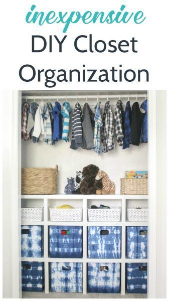Inexpensive DIY closet organization, diy closet shelves plus ideas for organizing a kids closet