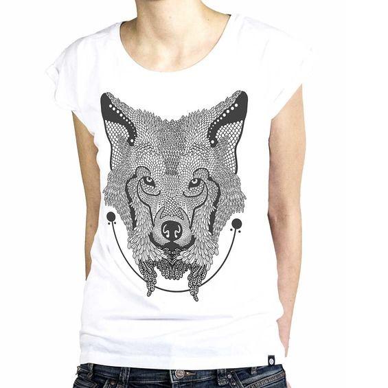 Koszulka Damska Wilk - Malinowe Cacko