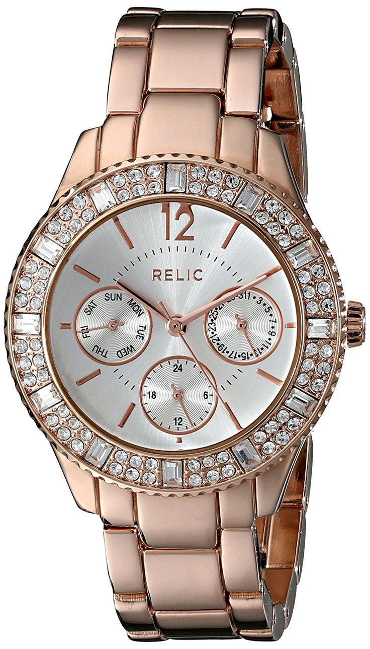 Relic Women's ZR15741 Sophia Rose Gold-Tone Watch -- You can find out more details at the link of the image.