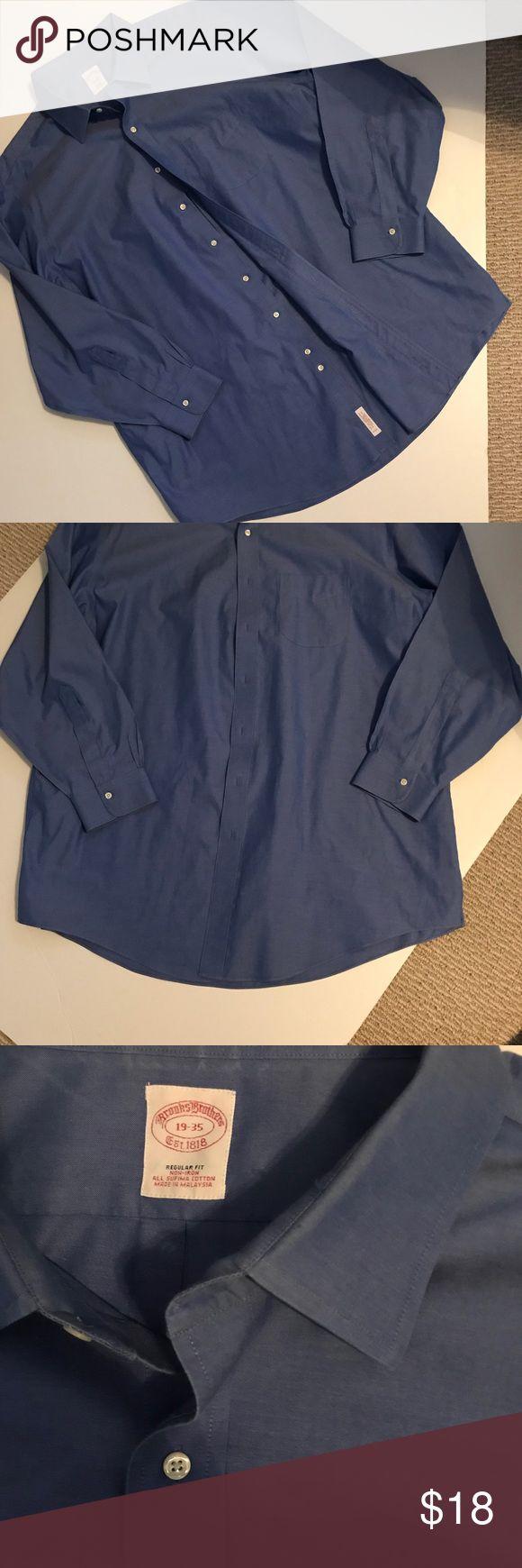 "Brooks Brothers dress shirt. Size 19-35. Like new BROOKS BROTHERS LONG SLEEVE NON IRON Dress Shirt 19-35Light Sky Blue. Regular fit. Supima Cotton. ""Like new"" condition. Brooks Brothers Shirts Dress Shirts"