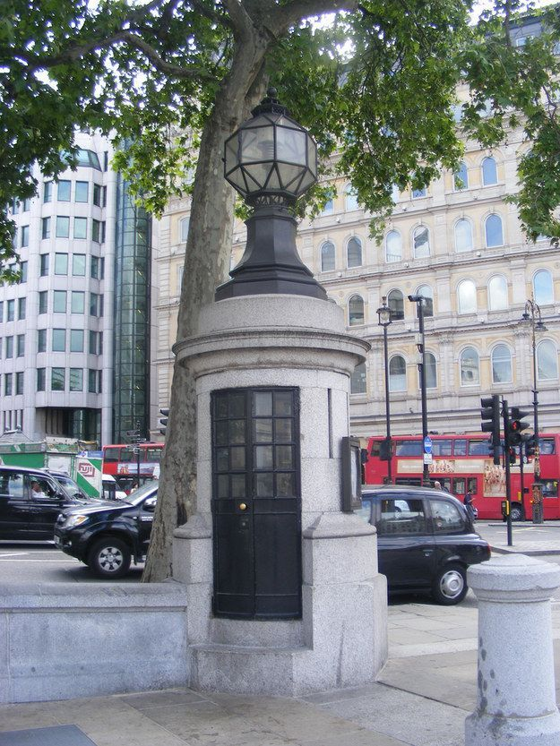 Then visit Britain's smallest police station, Trafalgar Square
