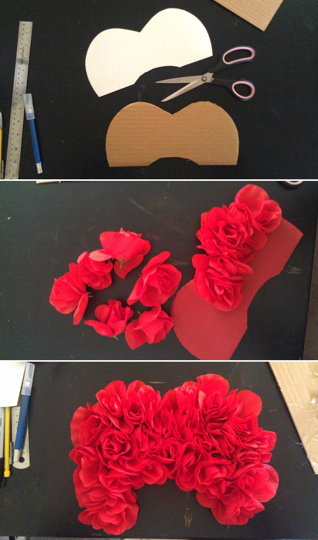 Queen of Hearts headpiece construction