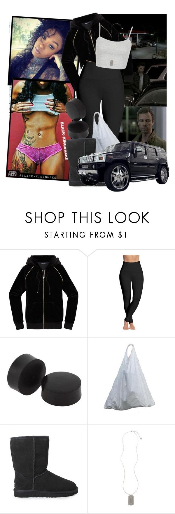 """(TW) Pack Mentality ❌ READ DESCRIPTION"" by black-kingsnake ❤ liked on Polyvore featuring Juicy Couture, Lyssé Leggings, UGG Australia, Topshop and Armani Exchange"