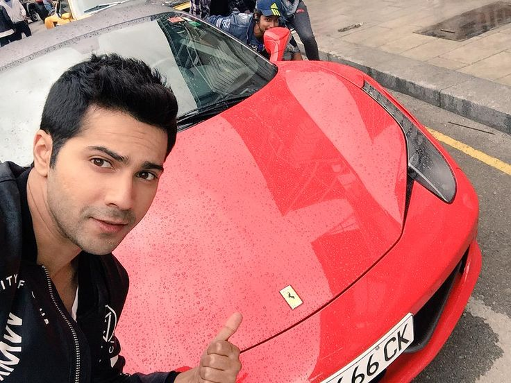 Me with my 458italia Ferrari #Dilwale #bigbigbig #dilwalemagicon18thdecember