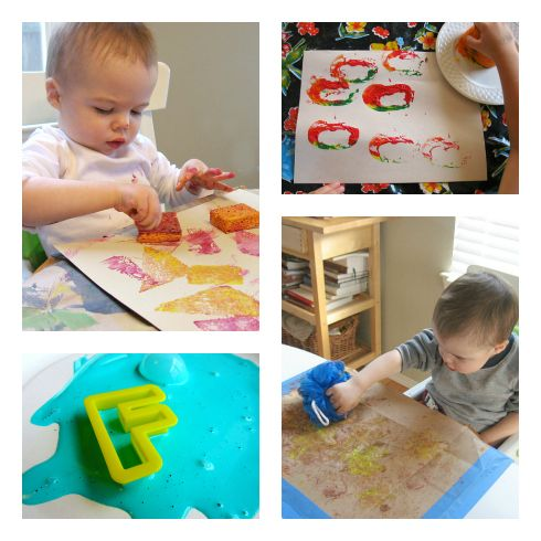 20 easy painting activities for toddlers!