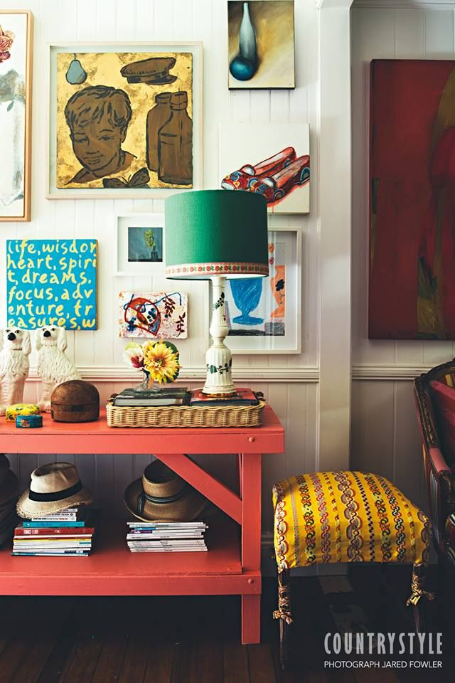 Country Style Magazine. Interior designer Anna Spiro's amazing talent for mixing colour and pattern is obvious in every corner of her Queensland home. Photography Jared Fowler Styling Anna Spiro ‪#‎countrystylemag‬:
