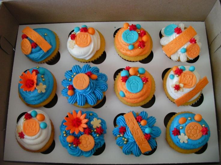"""Kai Lan cupcakes- idk what """"Kai Lan"""" is but these sure do look good"""