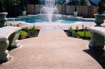 Grecian Pool - midcentury - Pool - Other Metro - Signature Pools & Spas, Inc