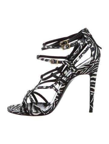 Pierre Hardy Snakeskin Caged Sandals w/ Tags