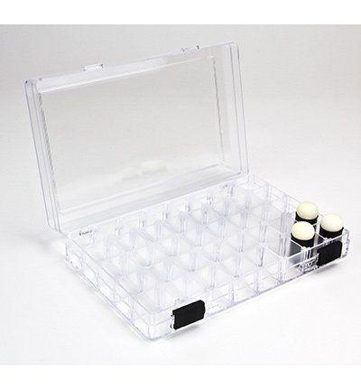 BASTELZUBEHÖR / CRAFT ACCESSORIES Plastik-Box + 3 Schwamm Tupfpinsel