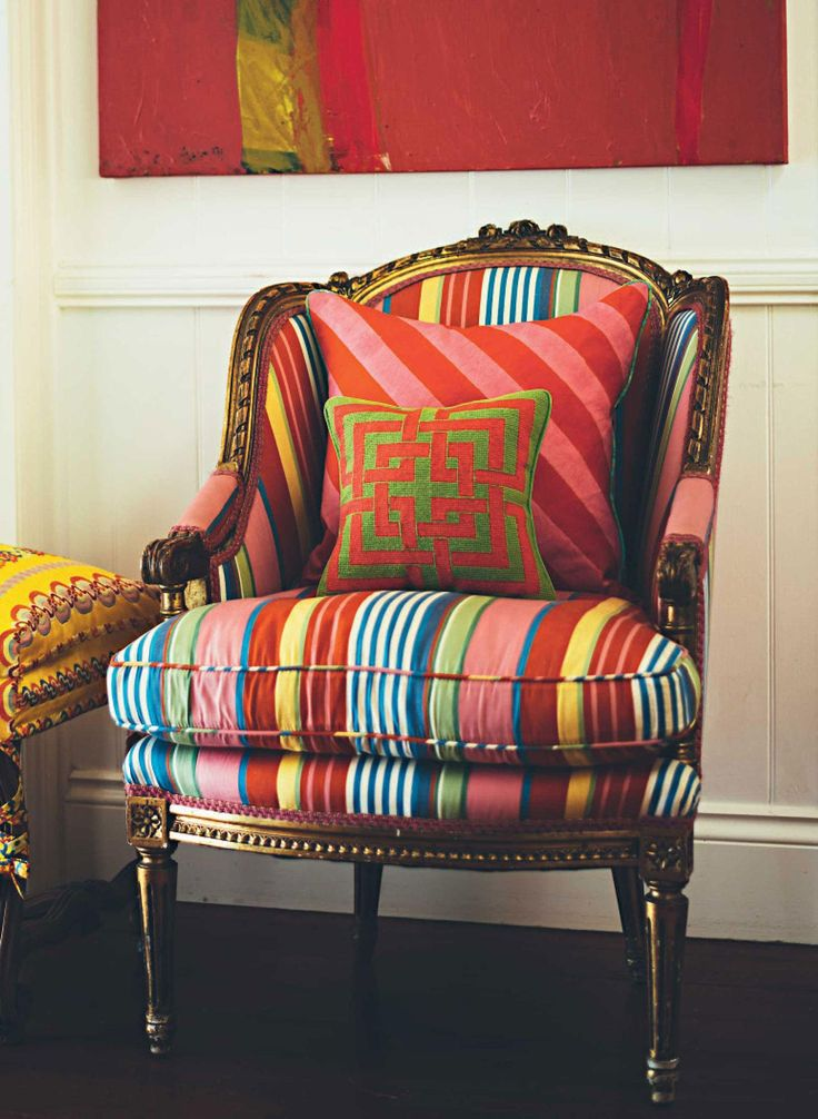 Love this striped chair!