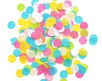 Ice Cream Shoppe Mini Tissue Confetti, Tissue Confetti Circles, Confetti Poppers, Confetti Wands, Wedding Throw Confetti, Party Confetti by littlepartyeventco. Explore more products on http://littlepartyeventco.etsy.com