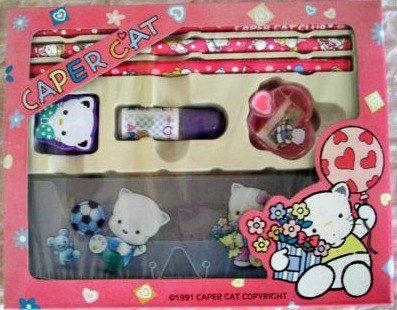 Caper Cat Club Pencil Set Kawaii Stationery 90s GVS by JirjiMirji, €32.30