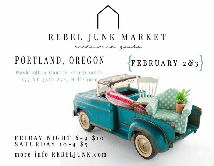 We're headed to beautiful Hillsboro, Oregon right outside of Portland, OR! Come see over 100 booths of handmade and collected vintage and vintage inspired items as well as industrial, farmhouse and retro wares!  #farmhouse #industrial #vintage #market #fleamarket #antiqueshow #craftshow #homedecor