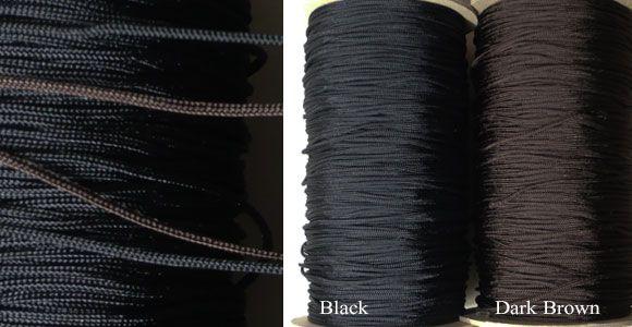 唐打ち紐 2mm ナイロン、ポリエステル組み紐やループタイを最安値激安割引値引き卸価格で安いアクセサリー紐を格安販売   卸値通販 ゼネガー