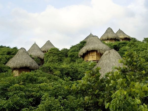 Eco-friendly bungalows along the beaches of Tayrona #National Park, Northern #Columbia