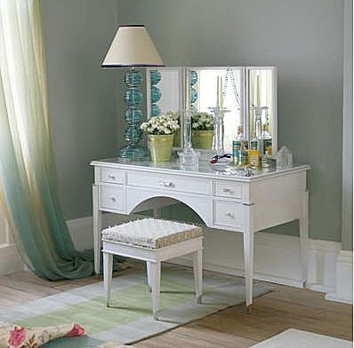 72 best vanities cosmetic storage images on pinterest dressing tables vanity ideas and bedroom for Privacy solution between bedroom and bath