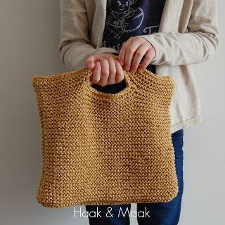 Kijk wat ik gevonden heb op Freubelweb.nl: een gratis breipatroon van Haak & Maak om een tas te maken https://www.freubelweb.nl/freubel-zelf/zelf-maken-met-breigaren-tasje/