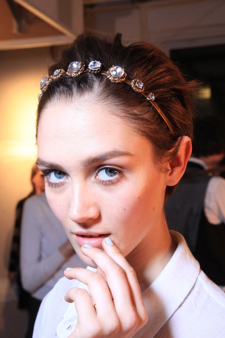 DIY HAIR INSPO    Crystal Headband