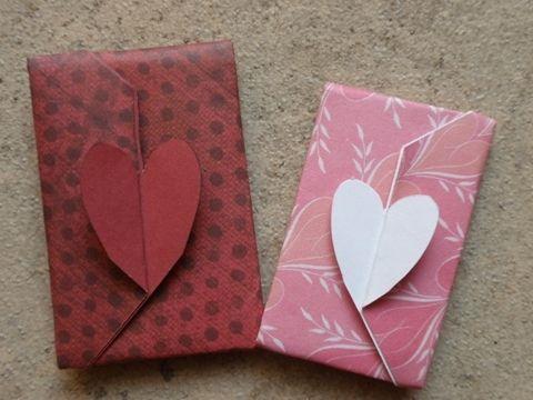 折るだけ簡単♪ハートのポチ袋の作り方|ペーパークラフト|紙小物・ラッピング | アトリエ|手芸レシピ16,000件!みんなで作る手芸やハンドメイド作品、雑貨の作り方ポータル