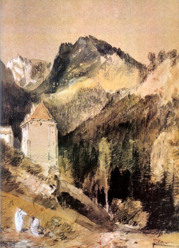 WilliamTurner 1802 monastere de la Grande Chartreuse
