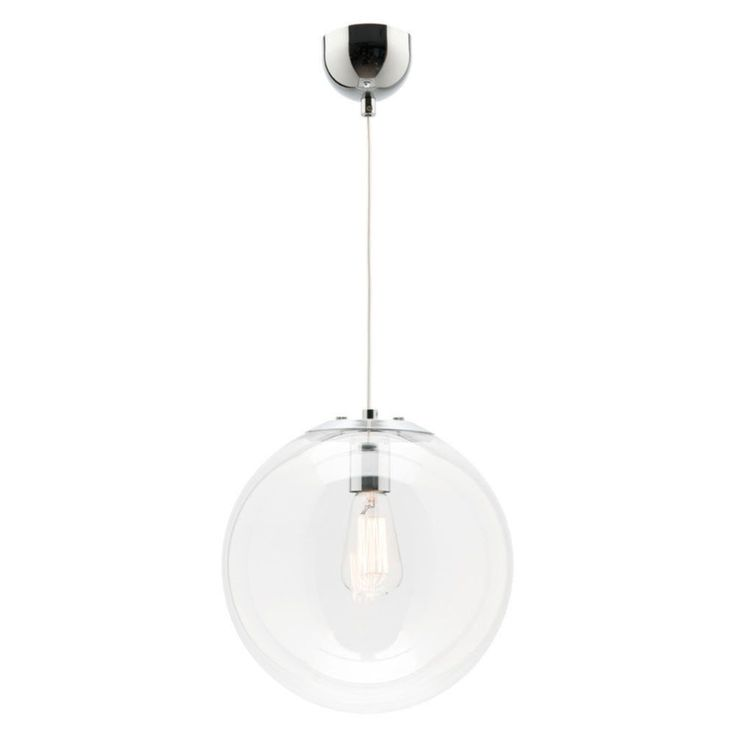 Mercator oxford glass pendant clear in pendant lighting