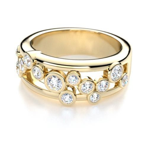 right hand round cut bezel set diamond anniversary ring in 14k yellow gold diamond anniversary band 500x500 Wwww.diamond wave.com