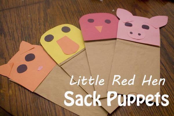 Little Red Hen Cut Outs | This past week the girls checked out a version of T he Little Red Hen ...
