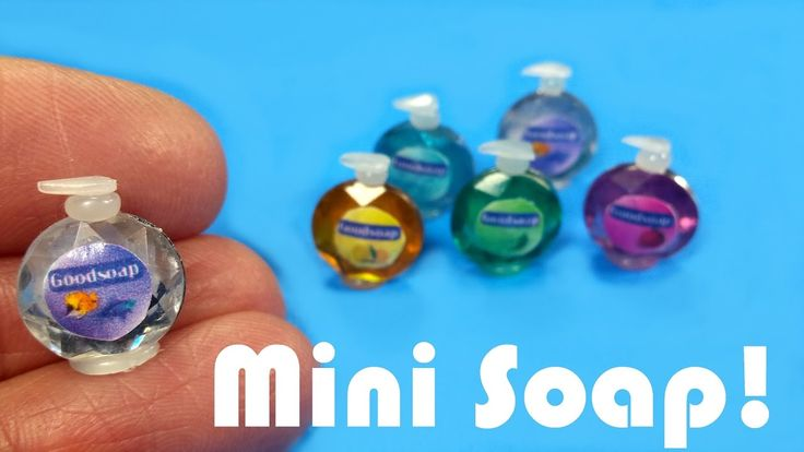 DIY Miniature Softsoap Inspired Soap Dispensers - Dollhouse Crafts