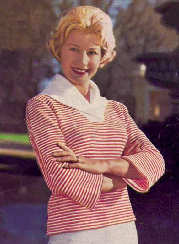 PDF Vintage 1950s Womens Ladies SAILOR Knitting Pattern Shawl