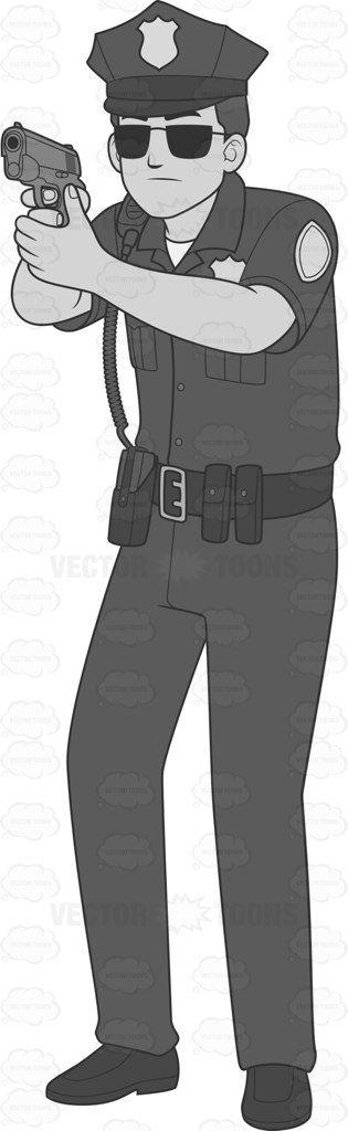 Male Cop With Handgun In A Shooting Stance #arrest #badge #cop #duty #firearm #force #grownup #guard #guarding #gun #guy #handgun #human #job #law #lawenforcementagency #male #maleperson #man #onpatrol #on-duty #patrol #person #personnel #pistol #police #policedepartment #policeforce #policesiren #policeman #professional #radio #shootingstance #single #skilled #utilitybelt #vector #clipart #stock
