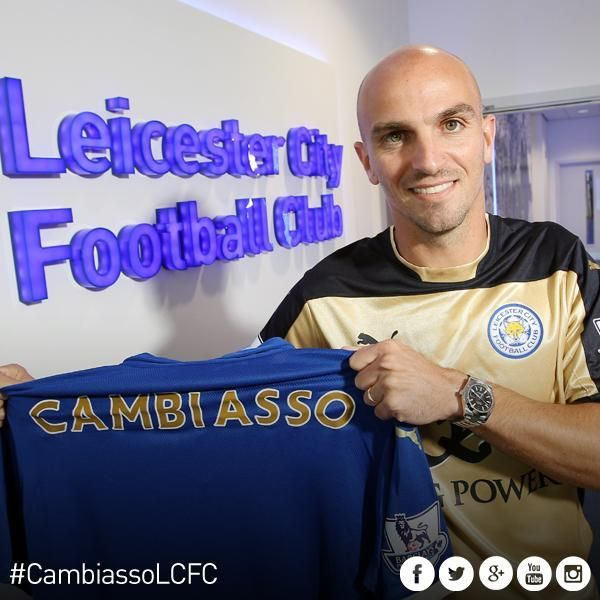 #Leicester have announced the signing of Esteban Cambiasso.