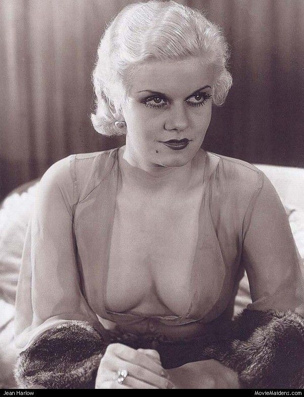"Jean Harlow. A true ""Vamp"". In her clinging 30s fashions and no undergarments, she was a sight to behold!"